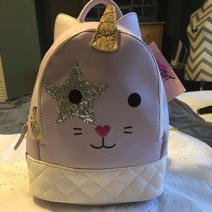 NWT•Betsy Johnson Unicat small backpack